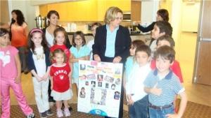 Hon. rep. Ros-Lehtinen with Turkish kids