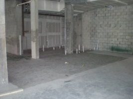 Concrete slab is poured at wetarea